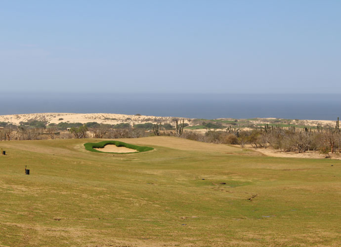 """The fairway and green on El Cardonal's 13th hole. Said Tiger, """"Regardless of your handicap, there are going to be different ways to play every hole. Angles of approach are going to be very important and will dictate the type of shots you should consider. I love this kind of golf."""""""