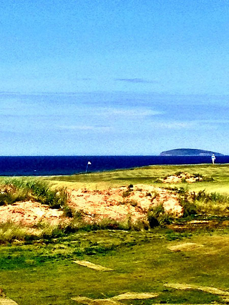 """""""@eamonlynch: The 13th green, seen from the 4th fairway."""""""