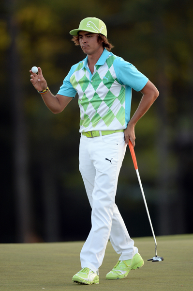 BEST: RICKIE FOWLER                       Fowler's awesome fade-out argyle polo paired with white pants is a huge improvement on yesterday's mint green monochrome ensemble. This outfit is just wild enough to appeal to youngsters without alienating the conservative crowd. And how can you not love those shoes?