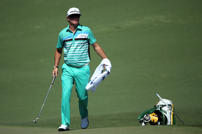 WORST: BRIAN GAY                       Brian Gay's Sligo apparel always pushes the envelope with bright colors and patterns (usually in a good way), but I just don't love this shade of green. The polo looks great but I can't help but think that black or white pants would have been a huge improvement.