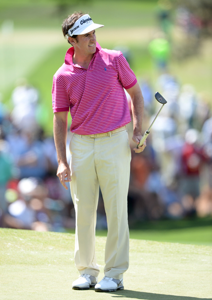 BEST: GONZALO FERNANDEZ-CASTANO                       This is a simple look for Fernandez-Castano, but I love it. The clothes fit well and the pink polo is springy but not too bright—perfect for a Saturday round at Augusta.