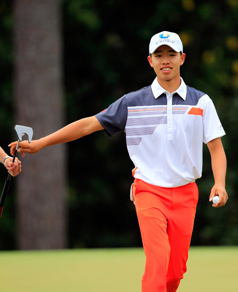 BEST: TIANLANG GUAN                       Guan capped off a tremendously impressive week of play with his best outfit on Sunday. The colors and print of his polo pair nicely with his bright orange pants, and the look not only cool, but completely age-appropriate.