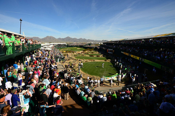 The par-3 16th hole at TPC Scottsdale is home to the wildest party every year on the PGA Tour. Here's some of the highlights ...