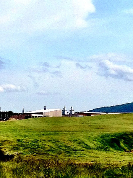 """""""@eamonlynch: The 18th tee. Aim at the Pastor's office, the towers right of the clubhouse."""""""