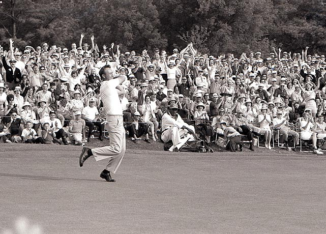 Arnold Palmer cruised to a six-shot win for his fourth, and final, Masters title in 1964.