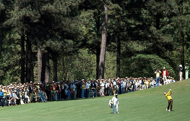 After opening with rounds of 67 and 69, Nicklaus faded on the weekend and tied for the third at the 1976 Masters.