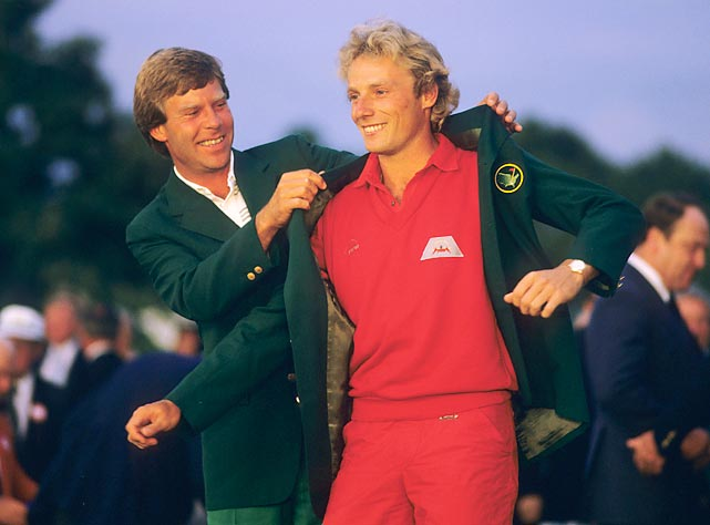 Bernhard Langer captured his first green jacket in 1985.