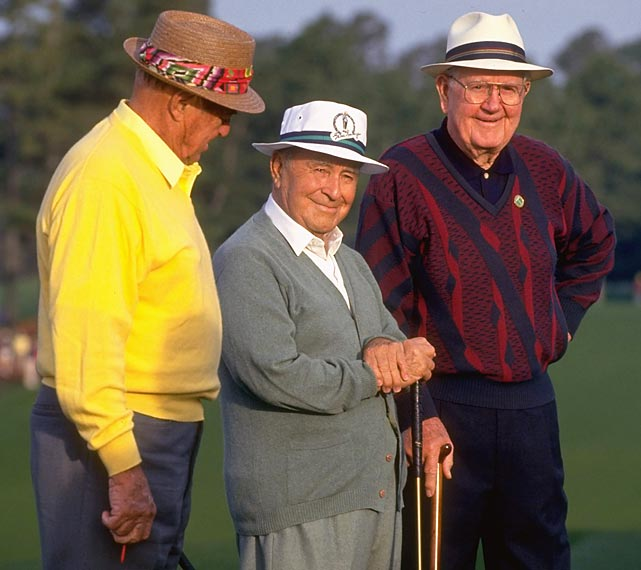 Sam Snead, Gene Sarazen and Byron Nelson served as honorary starters at the 1993 Masters.