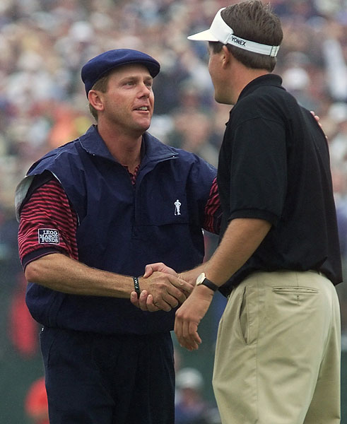 In 1999 at Pinehurst No. 2, Mickelson was near the top of the leaderboard, but he finished second, losing to Payne Stewart by one stroke.