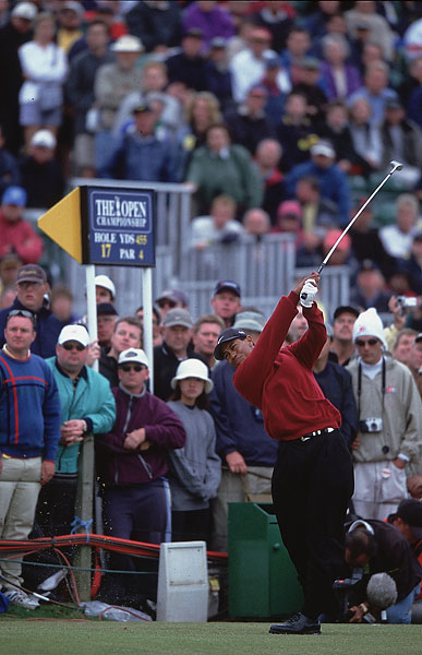 Woods won his first British Open in 2000 at St. Andrews.