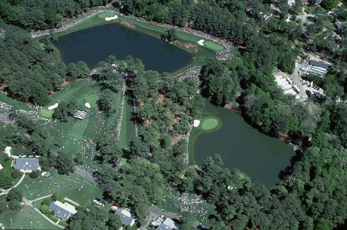 Augusta National                           Bob Martin, SI's Europe-based photog, took his turn in the air during the first Masters of the millennium, and he came up with a bird's eye view of Clifford Roberts's charming short course during the Wednesday Par-3 Contest in 2000.