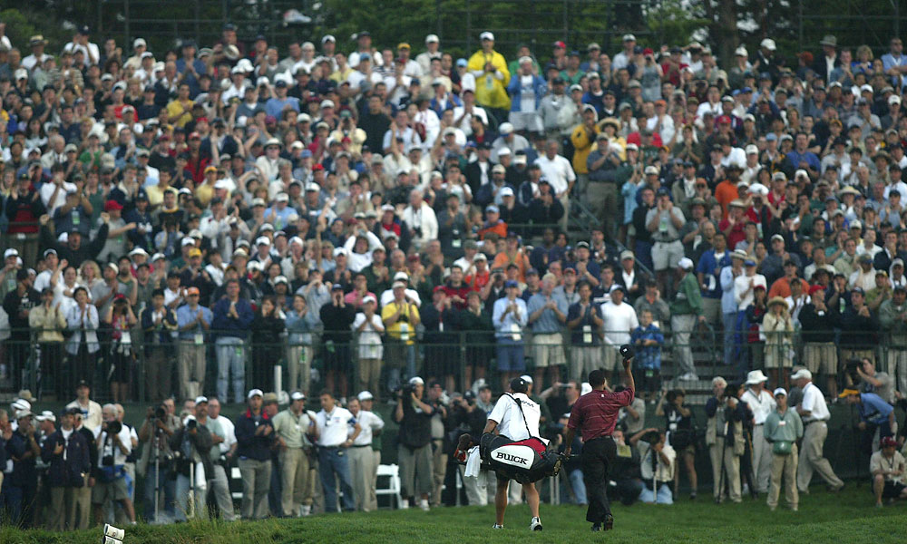 Woods won his second U.S. Open in 2002 at Bethpage Black, also on Long Island.