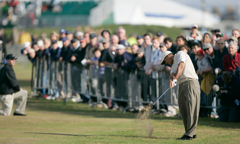 In 2004, Woods shot three under for ninth place at Royal Troon.