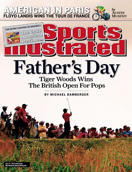 July 31, 2006                           Woods wins the British Open, his first major title after the death of his father.                                                       Read the story.