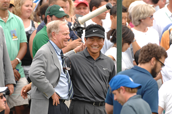 Tiger-Jack Double                       In the first season that both Jack Nicklaus and Tiger Woods hosted their own tournaments, K.J. Choi made history by winning both of them. The Nicklaus win was especially poignant because Choi had learned the game from a Jack Nicklaus instruction book.                        A solid season put Choi in contention for the FedEx Cup, and he was one of the six players mathematically able to win heading into the Tour Championship. He ended up fifth in the standings.                                              Related Links                       • Choi completes Nicklaus-Woods double                       • Efficiency Expert: Choi swing sequence                       • Early Nicklaus lessons pay off for Choi
