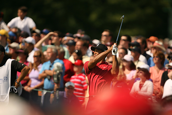 In his last five starts, Woods won four times and finished second to Phil Mickelson at the Deutsche Bank Championship.