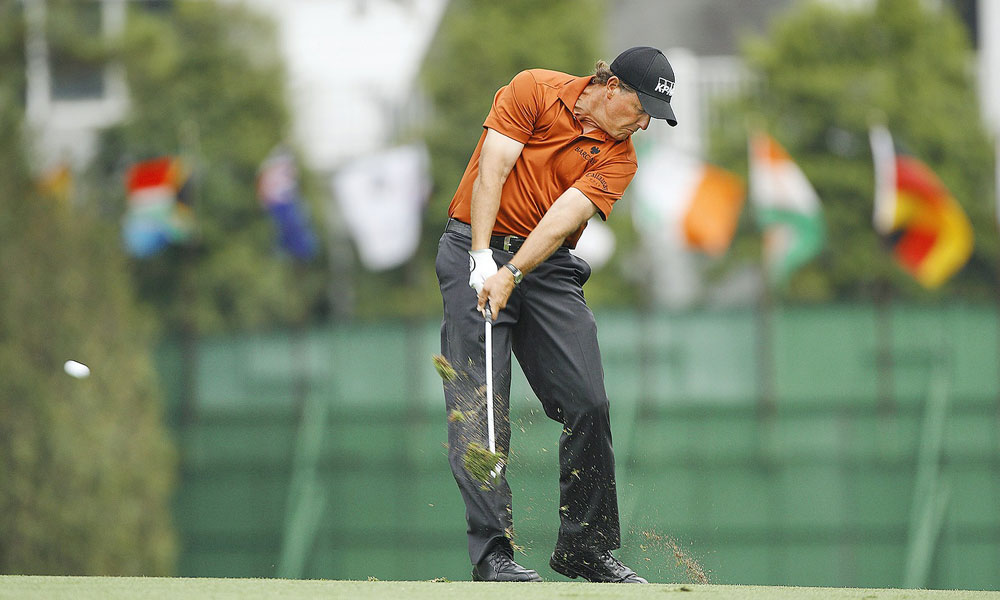 Mickelson tied for fifth place along with Padraig Harrington and Steve Flesch at the 2008 Masters.