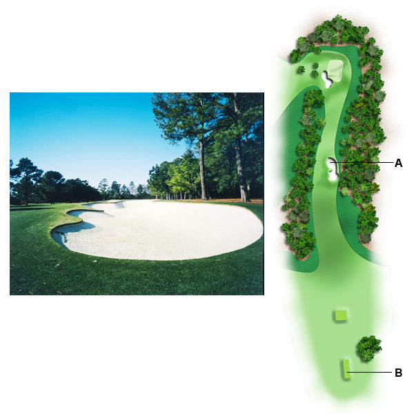 "No. 1, Tea Olive                       1998 yardage: 400                       2010 yardage: 445                                              A. DEEP TROUBLE                                              ""It's all about the fairway bunker. When they moved the tees back, that put the bunker at about 318 yards away, too far to fly it. Also, the bunker is six, seven feet deep — deeper than Hootie Johnson's pockets, I once said — so you can't hit it in the bunker and then reach the green. Used to be, brave players would challenge the bunker, so that they could enjoy the ideal angle coming into the green. Risk and reward! But today, players won't go near it. It's too risky. Instead, they take their drives up the left side, leaving a middle-iron from the worst possible angle into the green — not MacKenzie's intention.""                                              B. RUDE AWAKENING                                              ""The first hole used to gently wake you, like your mother getting you up for school in the morning. Now it's more like AC/DC slapping you in the face. Hey, ""Back in Black"" was a great song, but I don't want to hear it on the first tee at Augusta. I want to hear a symphony."""