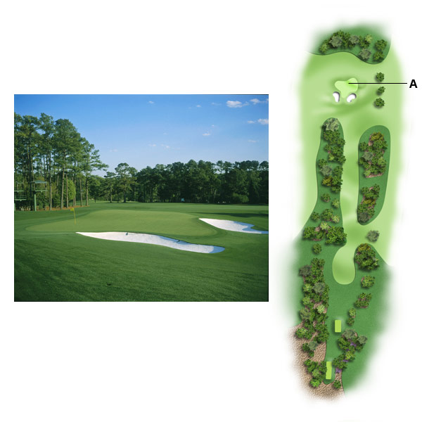 "No. 17, Nandina                           1998 yardage: 400                           2010 yardage: 440                                                      A. A NEW APPROACH                                                      ""You were meant to hit about an 8- or 9-iron onto the green on 17. Why? Because both the front of the green and the back left of the green fall off, so you're actually only hitting to a 20-foot deep tabletop. Today, you might have a middle iron or hybrid [approach], and it's impossible to stop the ball on that tabletop with a longer club. To make matters worse, the green is far more severe than MacKenzie ever intended.""                                                      THE FINAL WORD                                                      ""MacKenzie understood that golf should be fun,"" Chamblee says. ""It should entice you, make you consider something heroic. Maybe you fail, but you had the option of taking that risk. Today, I see players coming off the course and there's no joy. They're bruised, beaten. Why? Because the course is too difficult, and too philosophically different from what MacKenzie intended."""