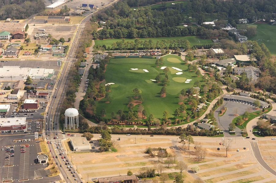 2010: The end result, captured by photographer Fred Vuich, was expanded parking for all, a dramatically increased capacity for hospitality and, to the delight of the players, a driving range and short-game area to die for.