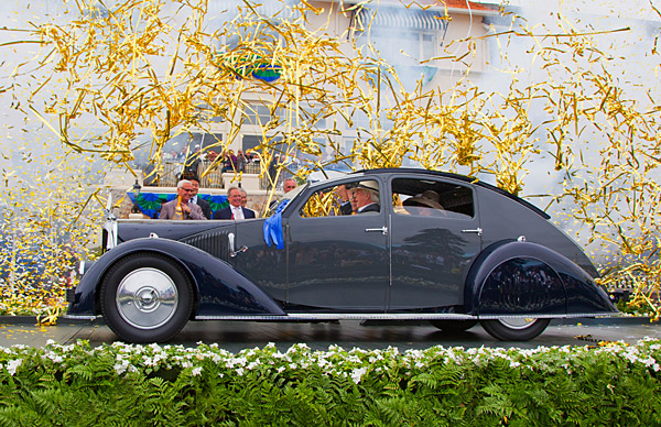 The 2011 Best of Show winner: a 1934 Voisin C-25 Aerodyne owned by Peter and Merle Mullin.                                                      For more information on the Pebble Beach Concours d'Elegance, as well as more photos, visit pebblebeachconcours.net.