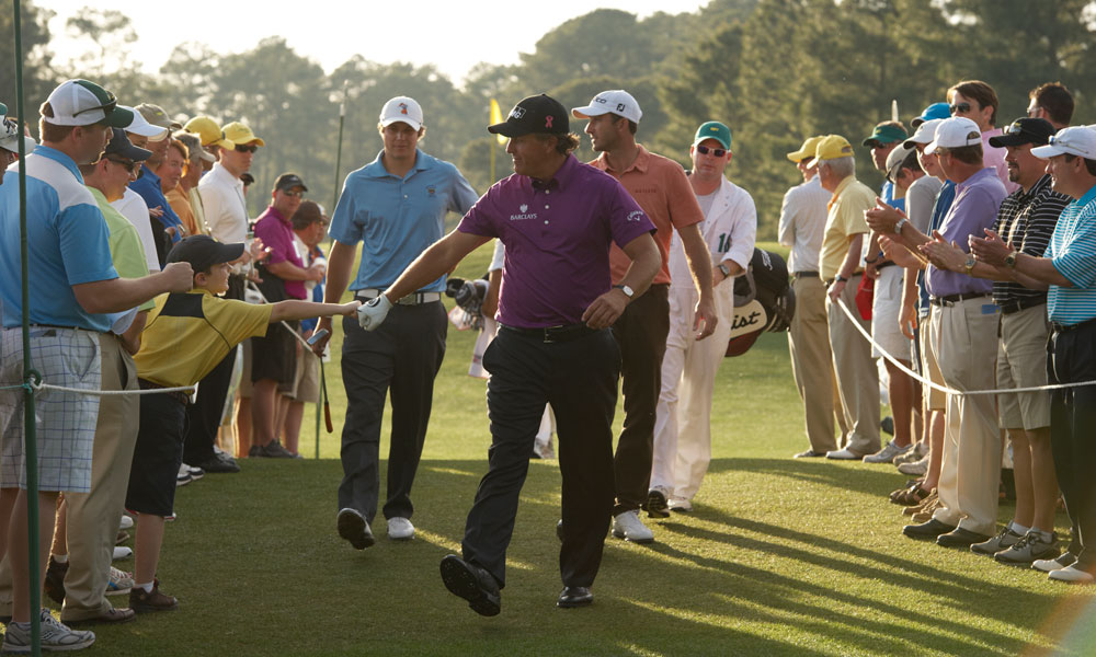 Mickelson tied for 27th place at the 2011 Masters.