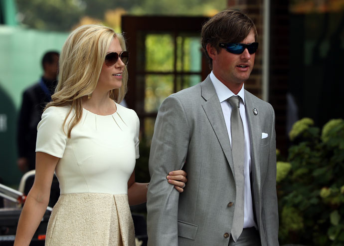 Webb Simpson with his wife, Dowd, at the 2012 Ryder Cup.
