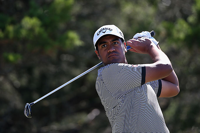 Long-hitting Tony Finau shot a 67 on Saturday and enters Sunday in 27th place.