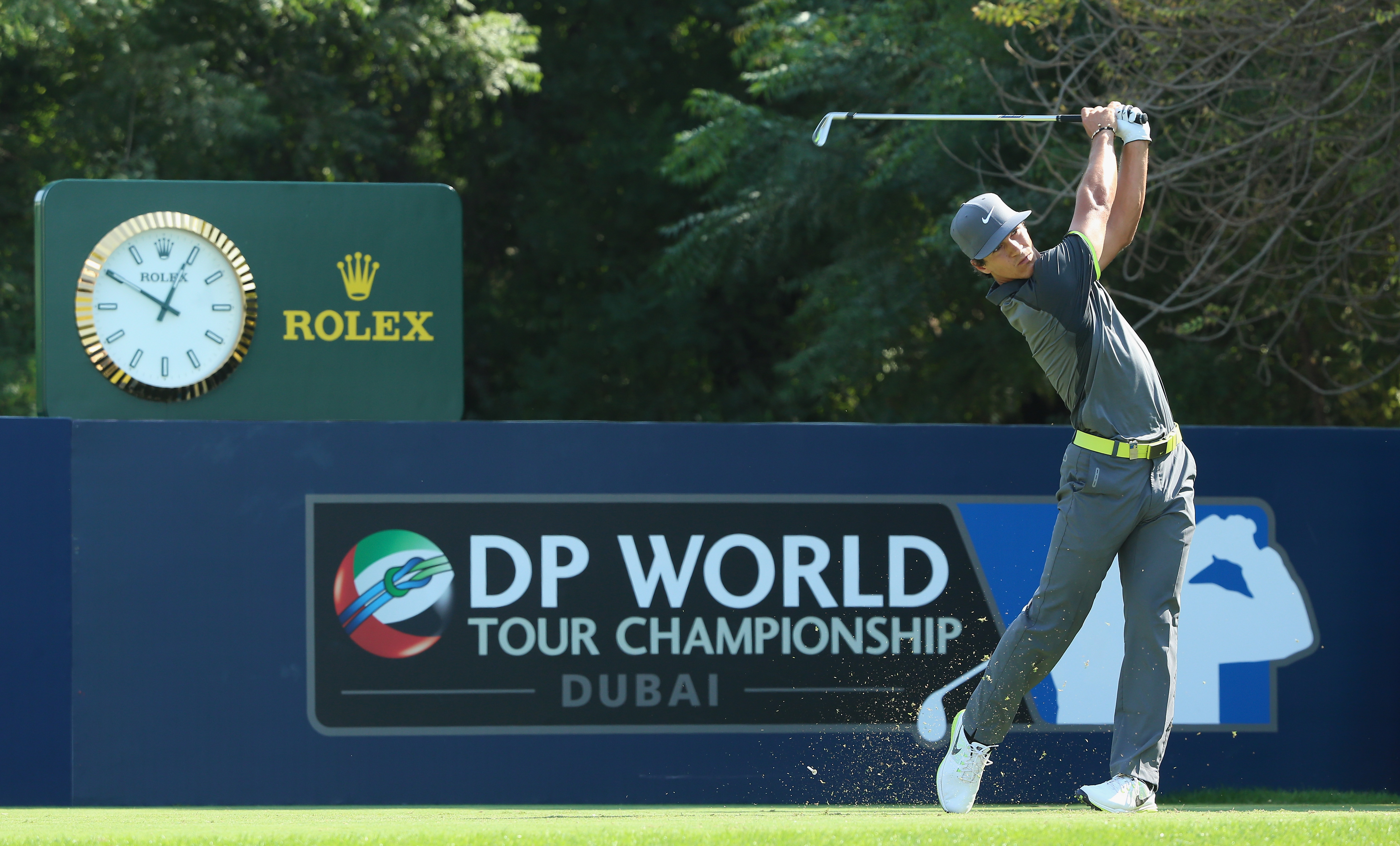 Thorbjorn Olesen of Denmark hits his tee-shot on the fourth hole during the third round. Thorbjorn shot a third-round 69 to round out the four-way tie between himself, Rory McIlroy, Tyrrell Hatton and Victor Dubuisson.
