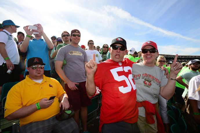These 49ers were celebrating a day before the big game.