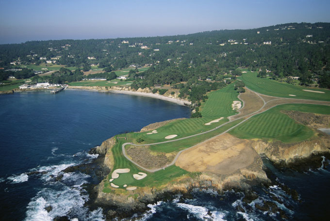 Pebble Beach                       Pebble Beach is one of the most famous courses in the world, ranked No. 7 on Golf Magazine's Top 100 Courses list.
