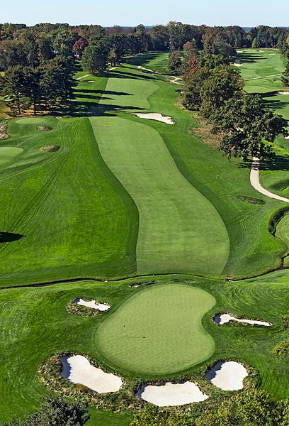 Merion Golf Club                       The monstrous par-5 4th hole played at 628 yards during the 2013 Open.
