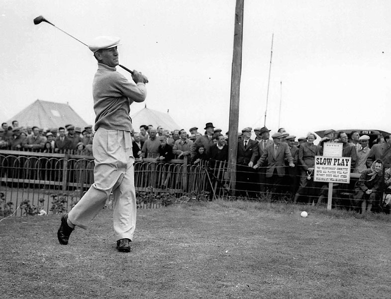 Later in '53, Hogan chose to travel to Carnoustie for the British Open instead of staying in the States to play the PGA. It was the only Open appearance of his career, and he won by four strokes to secure his third major championship of the season. The Scottish fans adored the champion they called the Wee Ice Mon.