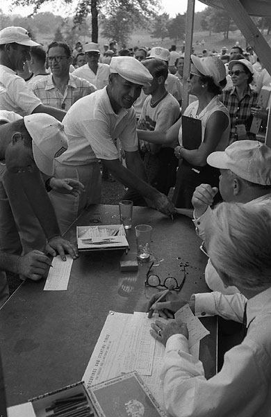 Hogan tied for second in the 1956 U.S. Open at Oak Hill.