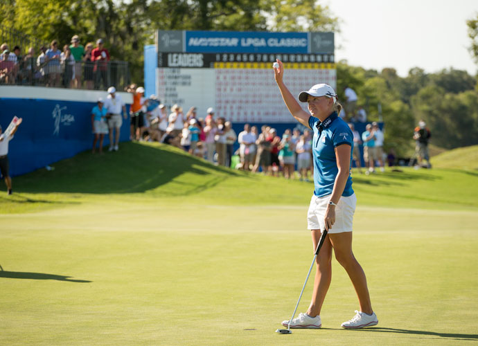 Lewis out-dueled Lexi Thompson again in the 2012 Navistar LPGA Classic. She shot a final-round 69 to win by two strokes.