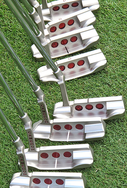 The three red dots milled into the back of Studio Design putters are often referred to as cherry bombs.