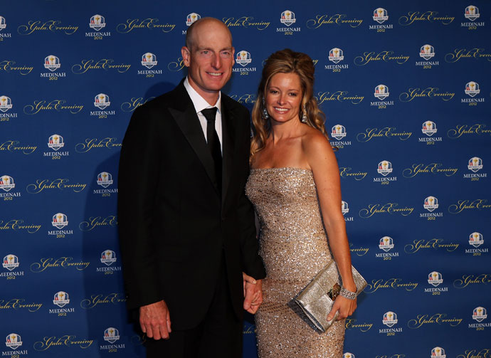 Jim and Tabitha Furyk attend the 39th Ryder Cup Gala in 2012.