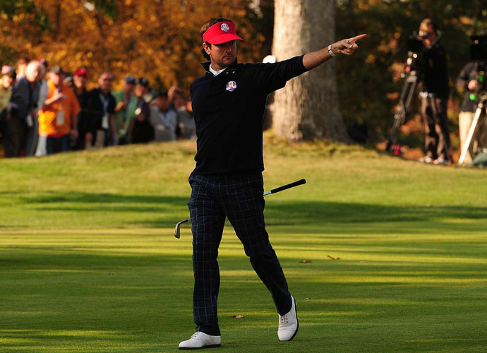 6. Bubba                             In 2012, Watson won twice in dominating fashion while losing two squeakers to Euro elites. This will be Bubba's third Ryder Cup, and the reigning Masters champ will be ready to lead. Also, emotions are powerful forces. We did some back-of-the-scorecard figuring: If (a) the Ryder Cup rouses emotions like no other event, and (b) no player is more emotional than Bubba, then (c) Bubba leads the U.S. to victory! It's the transitive property at work. Or maybe the law of hypothetical syllogism. In any event, we're predicting happy tears.