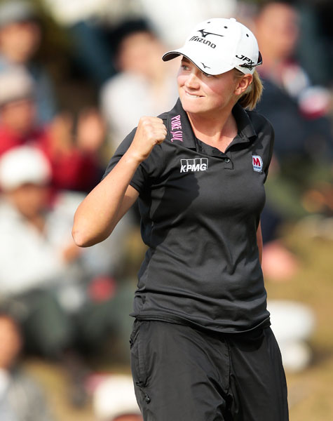 Lewis went low -- really low -- during the final round of the 2012 Mizuno Classic. She shot 64 to earn her fifth career victory at the 6,500-yard Kintetsu Kashikojima Country Club in Japan. The win was her fourth of the 2012 season.