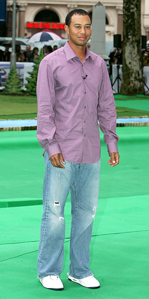 "Tiger Woods launches his video game, ""Tiger Woods PGA Tour 2007,"" and his style circa 1997.Tiger Woods launches his video game, ""Tiger Woods PGA Tour 2007,"" but his untucked dress shirt and stonewashed, ripped jeans are so 1997."