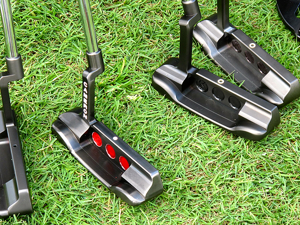 While this black finish has been seen on prototype putters for over a year, it's still not available to consumers. However, according to Cameron and several Titleist reps, that could change in the future.