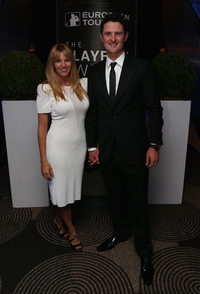 Justin Rose poses with his wife Kate at the European Tour Dinner prior to the BMW PGA Championship,
