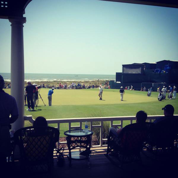 """@DavidDusek: This is how the well-heeled folks roll at Kiawah. #PGAChamp"""