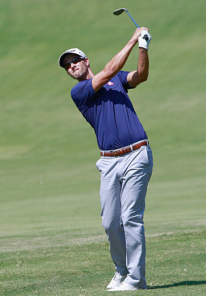 Adam Scott shot a 69 and is alone in second place.