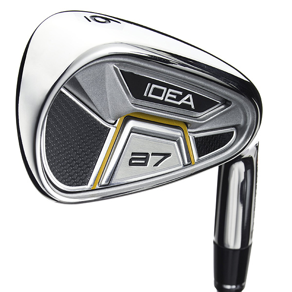The company's forte                       is a smooth integration                       between hybrids and                       scoring clubs. The Idea a7                       delivers two hybrids (in place                       of 3- and 4-irons), a transition                       club (hollow-headed 5-hybrid)                       and cavity-back irons (6-iron to                       PW). Hybrid updates include a                       sleeker look (the boxy shape is                       gone), more sole camber and a                       41-gram backweight for added                       forgiveness and easier launch.                       $499, steel; $599, graphite                       adamsgolf.com