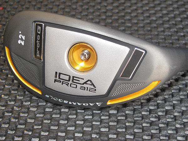 Brandt Snedeker recently won The Heritage with an Adams Idea Pro a12 hybrid in his bag like this one. The hole on the sole allows Adams to adjust the club's swing weight using different screws.