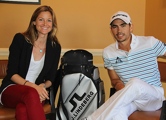 Adrienne Cass and three-time PGA Tour winner Camilo Villegas of Colombia.