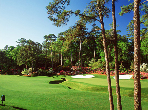 Hole No. 13                       Augusta National                       Augusta, Georgia                       13th hole; par 5, 510 yards                                              Perhaps the world's most beautiful inland hole, this is also one of its most strategic, encapsulating co-designer Bobby Jones' fondness for the par 4-and-a-half hole. The green is easily reachable in two for a low-handicapper, but distance alone is not the sole criterion. The tee shot must curve hard from right-to-left to avoid running through the fairway onto pine straw. Those who find the short grass still face a lengthy second from a tight, sidehill lie, over Rae's Creek to a green with more movement than a Shakira video. The four bunkers beyond the green serve as little more than eye candy, but they complete a picture that's as sweet as they come.