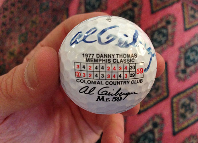 "Al Geiberger, aka ""Mr. 59,"" gifted me this autographed ball following a round at Stone Eagle, a stellar Tom Doak design in Palm Desert, Calif. Geiberger's 59 at Colonial in Memphis in 1977 was the first in Tour history; it has been matched, but never beaten. He couldn't have been nicer to me, aka ""Mr. 89."""