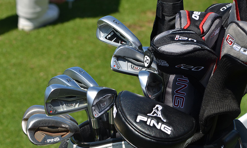 Angel Cabrera has been using a set of Ping S56 irons, but this week he's added a higher-flying, softer-landing Ping i20 3-iron.